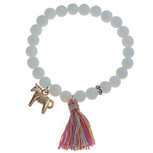 Buy Little Ella Horse Tassel Bracelet, Blue Online at johnlewis.com