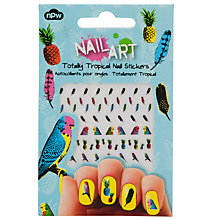 Buy Totally Tropical Nail Stickers, Multi Online at johnlewis.com