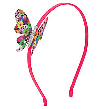 Buy John Lewis Girl Print Butterfly Applique Headband, Multi Online at johnlewis.com