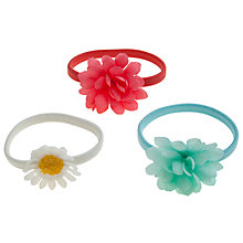 Buy John Lewis Girl Flower Hairbands, Pack of 3, Multi Online at johnlewis.com