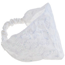 Buy John Lewis Girl Sequin Stitched Head Band, White Online at johnlewis.com