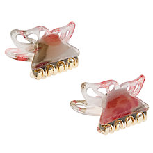 Buy John Lewis Girl Butterfly Hair Clips, Pack of 2, Multi Online at johnlewis.com