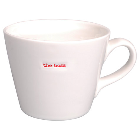 Buy Keith Brymer Jones Word 'Boss' Bucket Mug Online at johnlewis.com