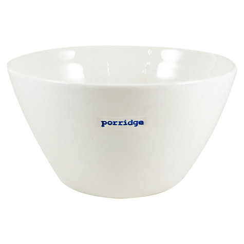 Buy Keith Brymer Jones Word 'Porridge' Medium Bowl Online at johnlewis.com