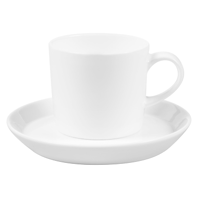 John Lewis Cornet Bone China Espresso Cup and Saucer, White