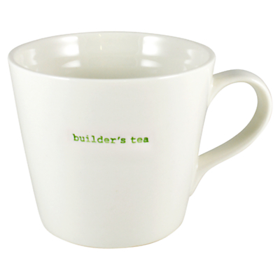 Keith Brymer Jones Word 'Builder's Tea' Large Bucket Mug