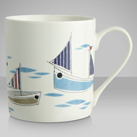 Buy John Lewis New England Boats Mug Online at johnlewis.com