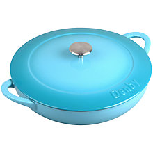 Buy Denby Azure Cast Iron Shallow Casserole, Dia.30cm Online at johnlewis.com