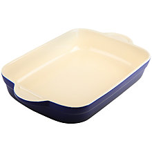Buy Denby Imperial Blue Oblong Dish,  L25.5cm x W17.5cm Online at johnlewis.com