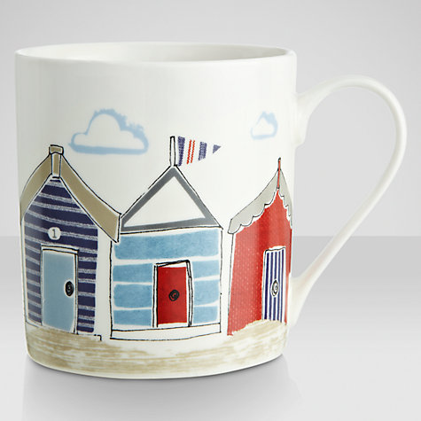 Buy John Lewis New England Beach Huts Mug Online at johnlewis.com
