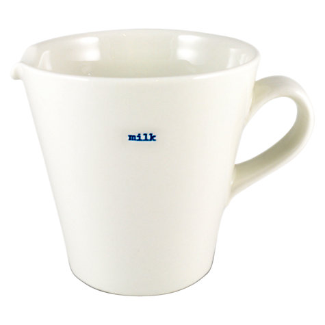 Buy Keith Brymer Jones Word 'Milk' Large Jug Online at johnlewis.com