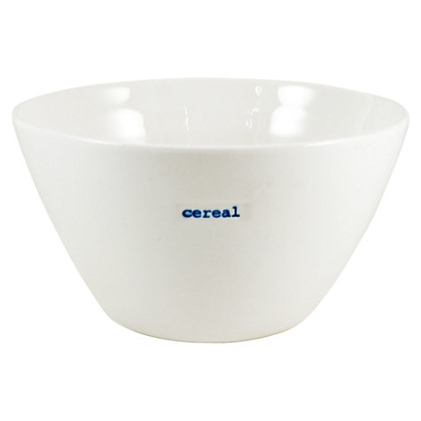 Buy Keith Brymer Jones Word 'Cereal' Medium Bowl Online at johnlewis.com