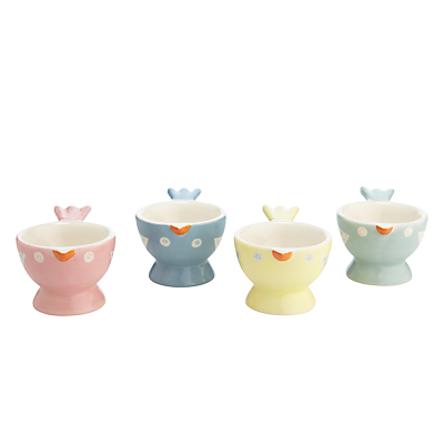 John Lewis Polly's Pantry Egg Cups, Multi, Set Of 4