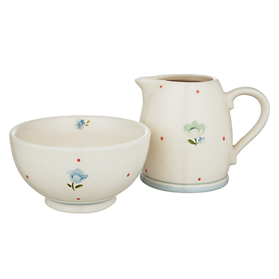 John Lewis Polly's Pantry Creamer And Sugar Set, Multi