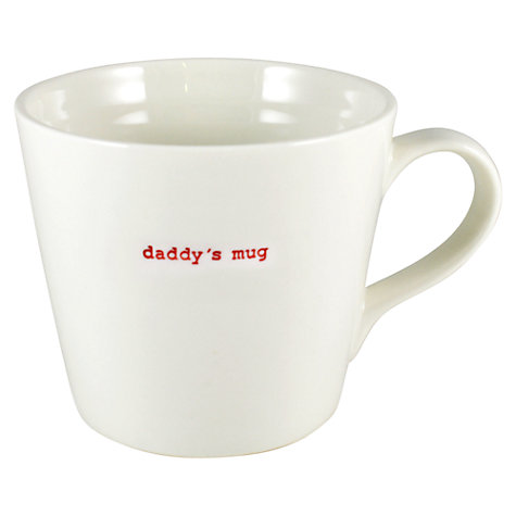 Buy Keith Brymer Jones Word 'Daddy's Mug' Large Bucket Mug Online at johnlewis.com