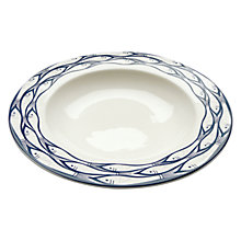 Buy Jersey Pottery Sardine Run Deep Rimmed Bowl, Dia.26cm Online at johnlewis.com