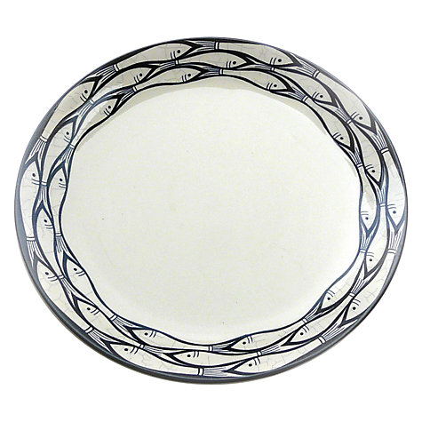 Buy Jersey Pottery Sardine Run Dinner Plate, Blue, Dia.28cm Online at johnlewis.com