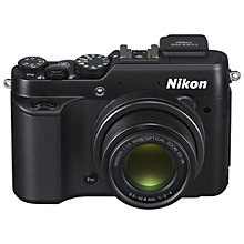 "Buy Nikon Coolpix P7800 Digital Camera, HD 1080p, 12MP, 7x Optical Zoom, EVF, 3"" Flip Screen with 16GB + 8GB Memory Card Online at johnlewis.com"