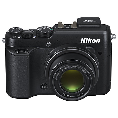 Buy Nikon COOLPIX P7800 Digital Camera, HD 1080p, 12MP, 7x Optical Zoom, EVF, 3 Flip Screen Online at johnlewis.com