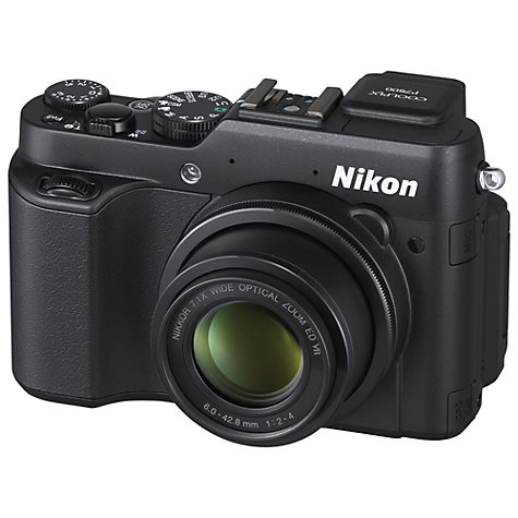 "Buy Nikon Coolpix P7800 Digital Camera, HD 1080p, 12MP, 7x Optical Zoom, EVF, 3"" Flip Screen Online at johnlewis.com"