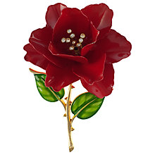 Buy Eclectica 1960s Trifari Gold Plated Enamel  Rose Brooch Online at johnlewis.com