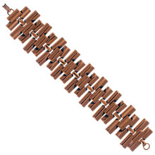 Buy Eclectica 1950s Geometric Copper Bracelet Online at johnlewis.com