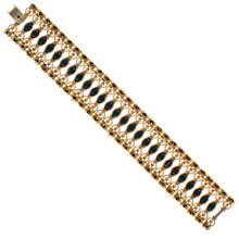 Buy Eclectica 1960s Gold Plated Faux Agate And Rhinestone Bracelet Online at johnlewis.com