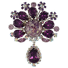 Buy Eclectica 1950s Crystal Drop Brooch Online at johnlewis.com