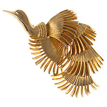 Buy Eclectica 1950s Grosse Gold Plated Bird Brooch Online at johnlewis.com