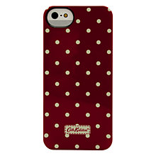 Buy Cath Kidston Mini Dot Case for iPhone 5 & 5s, Berry Red Online at johnlewis.com