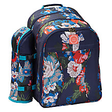 Buy Joules Floral Filled Picnic Backpack, 4 Persons Online at johnlewis.com
