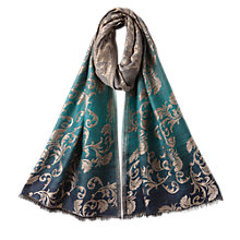 Buy East Damask Ombre Scarf, Blue Online at johnlewis.com