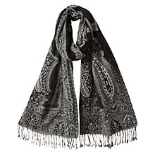 Buy East Monochrome Shawl, Black Online at johnlewis.com