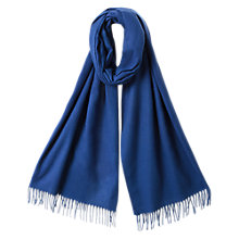 Buy East Large Studio Wrap Shawl, Deep Blue Online at johnlewis.com