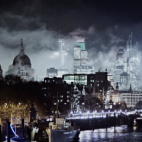 Buy Gallery One, Alex Saberi - Gotham London Mounted Print, A3 (29.7 x 42cm) Online at johnlewis.com