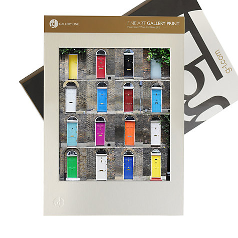 Buy Gallery One, Ben Mecklenburgh - 16 Doors Mounted Print, A3 (42 x 29.7cm) Online at johnlewis.com