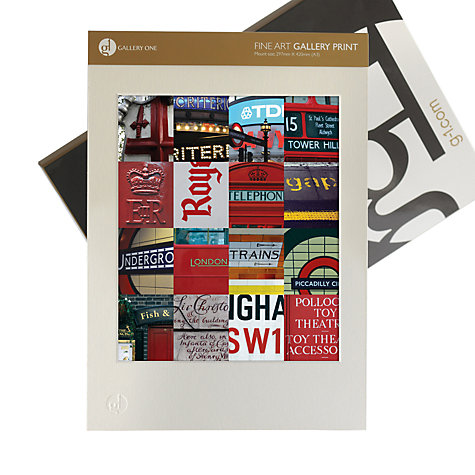 Buy Gallery One, Gregg Sedgwick - London Graphic Mounted Print, A3 (42 x 29.7cm) Online at johnlewis.com
