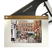 Buy Gallery One, Tom Butler - Window Shopping in Covent Garden Mounted Print, A3 (42 x 29.7cm) Online at johnlewis.com