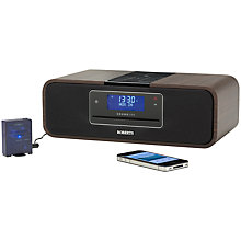 Buy ROBERTS SOUND 100 DAB/FM/CD iPod Dock Radio with Bluetooth Sync Unit, Walnut Online at johnlewis.com