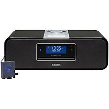 Buy ROBERTS SOUND 200 DAB/FM/CD iPod Dock Radio with Bluetooth Sync Unit, Black Online at johnlewis.com