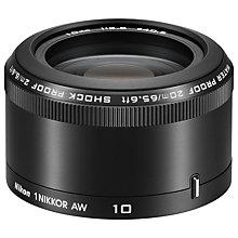 Buy Nikon 10mm f/2.8 AW 1 Waterproof Pancake Lens Online at johnlewis.com