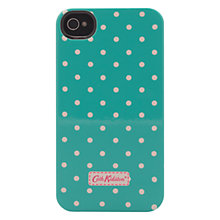 Buy Cath Kidston Mini Dot Case for iPhone 4 & 4S, Turquoise Online at johnlewis.com