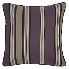 Buy John Lewis Alban Stripe Cushion Cover, Cassis Online at johnlewis.com