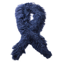 Buy East Mongolian Lambswool Scarf, Deep Blue Online at johnlewis.com