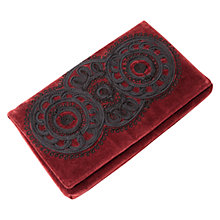 Buy East Cornelli Velvet Clutch, Merlot Online at johnlewis.com