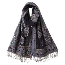 Buy East Embroidered Shawl, Navy Online at johnlewis.com