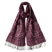 Buy East Embroidered Shawl, Orchid Magenta Online at johnlewis.com