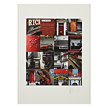 Buy Gallery One, Ben Mecklenburgh - Richmond Red Mounted Print, A2 (59.5 x 42cm) Online at johnlewis.com