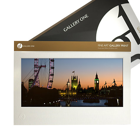 Buy Gallery One, Gregg Sedgwick - Westminster From Waterloo Bridge Mounted Print, A2 (42 x 59.5cm) Online at johnlewis.com