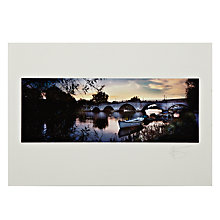 Buy Gallery One, Gregg Sedgwick - Richmond Bridge Mounted Print, A2 (42 x 59.5cm) Online at johnlewis.com
